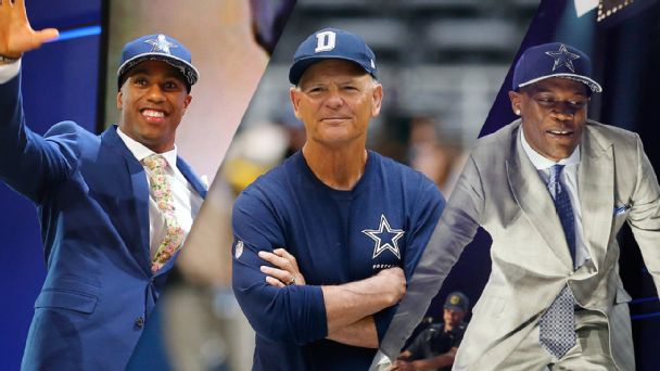 Byron Jones, Rod Marinelli, and Randy Gregory
