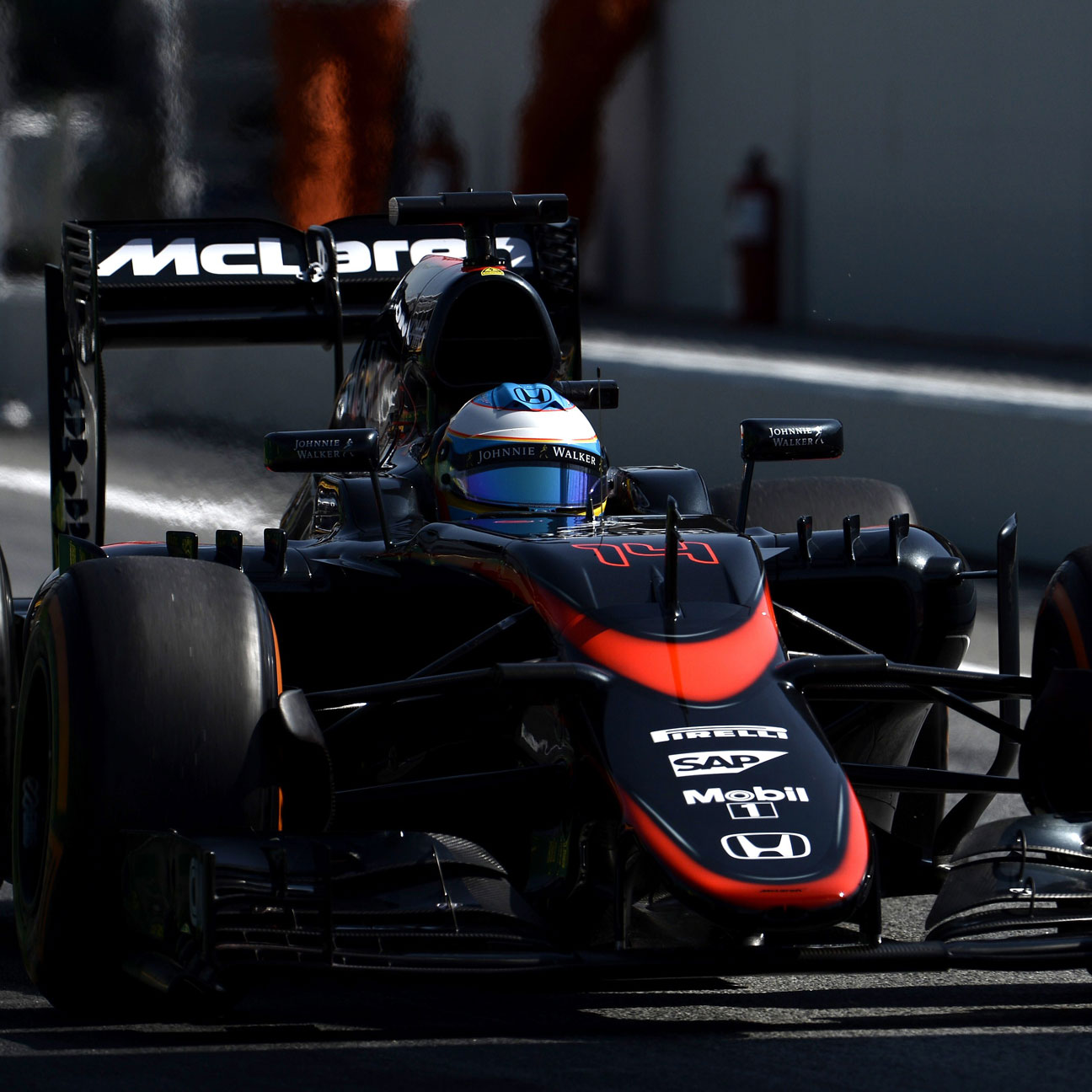 Tear-off visor likely cause of Alonso's brake failure