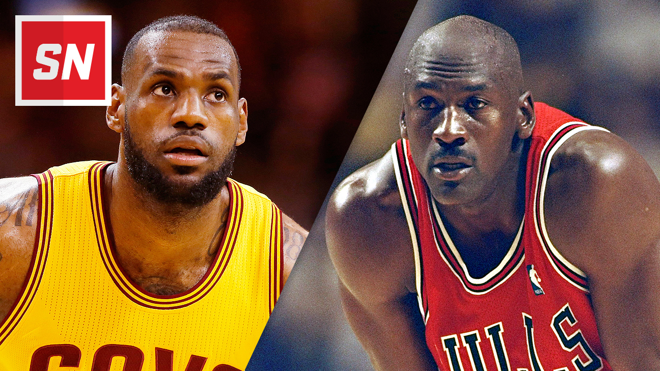 best service fce5d fe020 Q A  Michael Jordan says he d beat LeBron in 1-on-1 in his prime, and that  all-time Bulls team would  kill  all-time Lakers team - SportsNation - ESPN