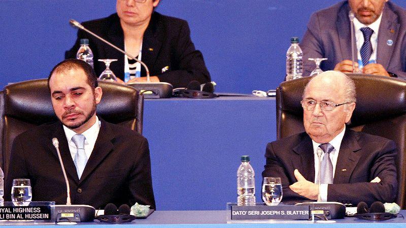 Prince Ali Bin Al Hussein and Sepp Blatter