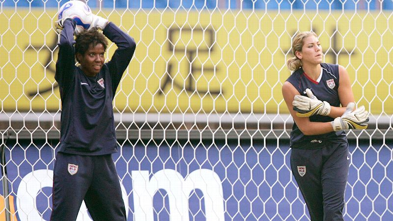 Briana Scurry and Hope Solo