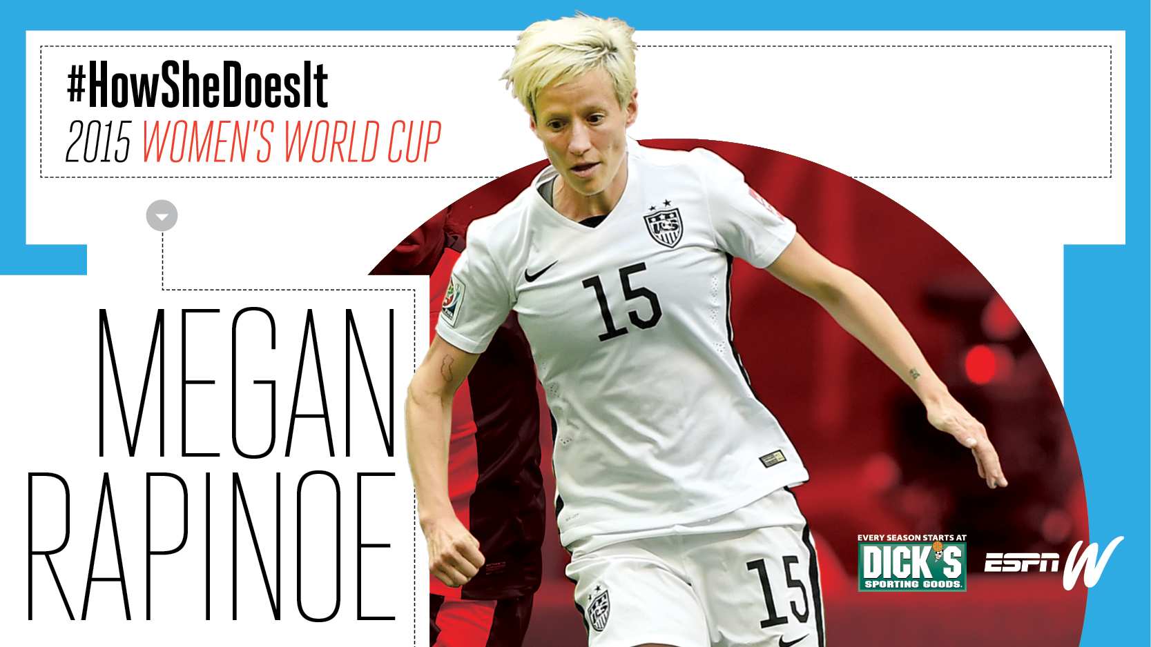 espnW #HowSheDoesIt Womens World Cup - Megan Rapinoe