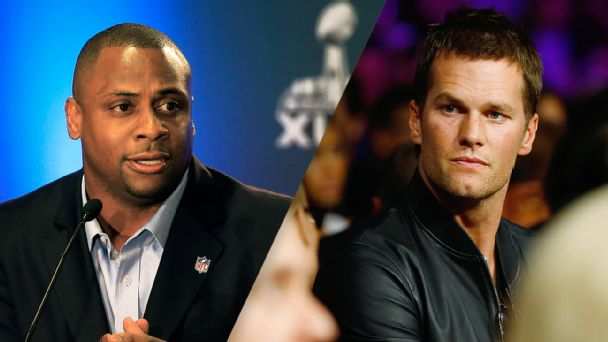 Troy Vincent and Tom Brady
