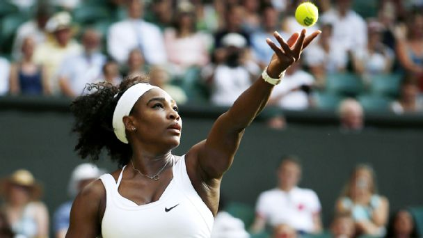 Follow live: Serena, chasing history, wins first set