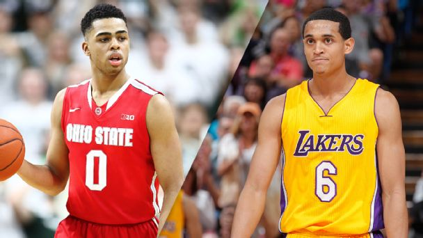 D'Angelo Russell and Jordan Clarkson