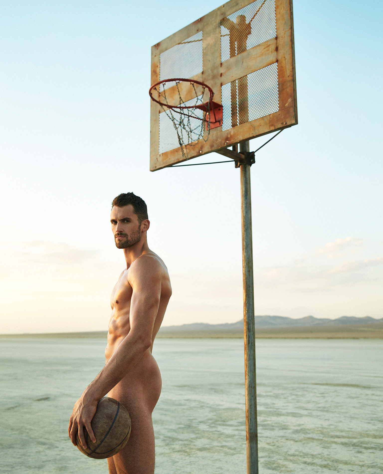 Naked male basketball pros theme