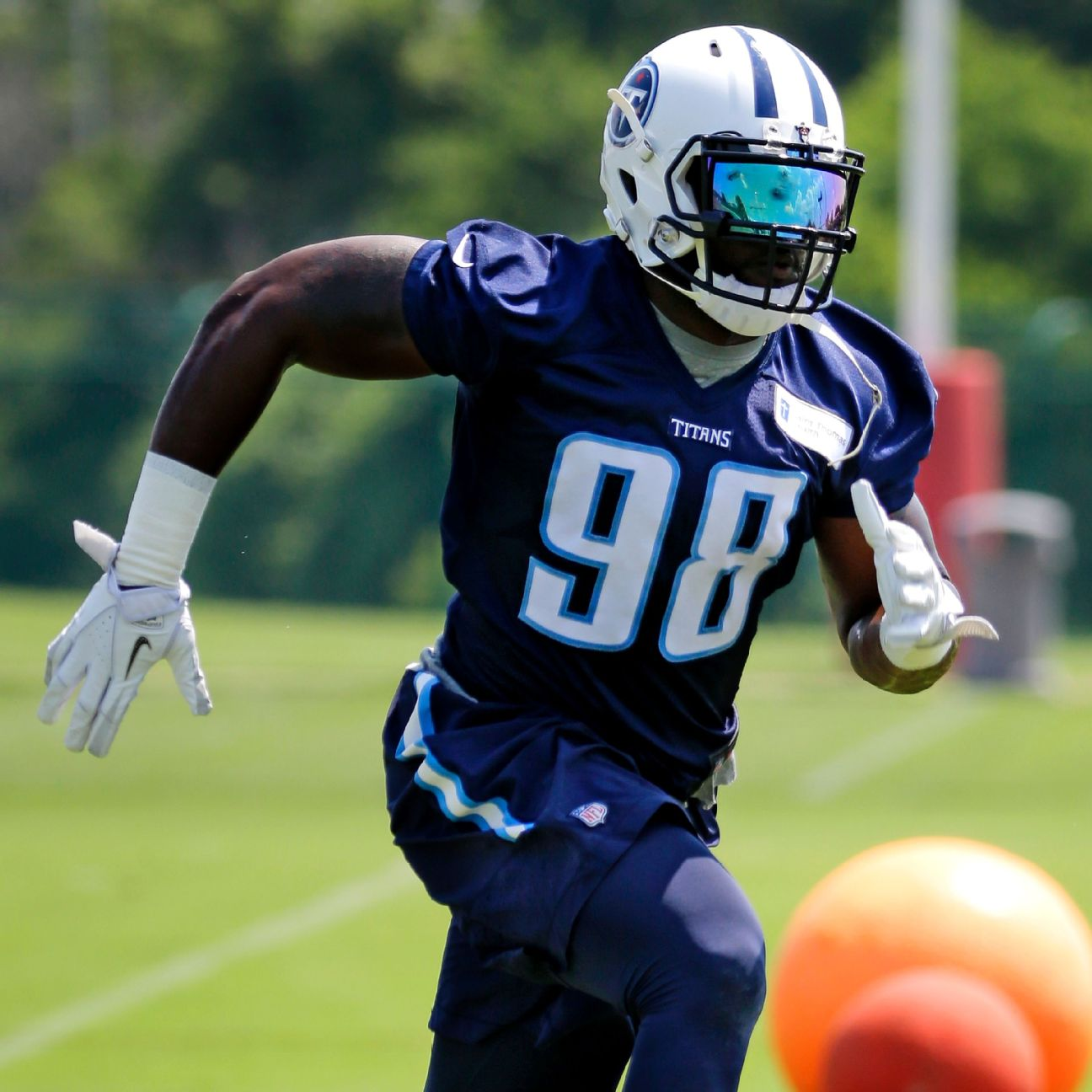 Titans OLB Brian Orakpo has gone from solid and stiff to nimble…