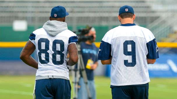Dez Bryant and Tony Romo