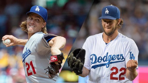 Zack Greinke and Clayton Kershaw
