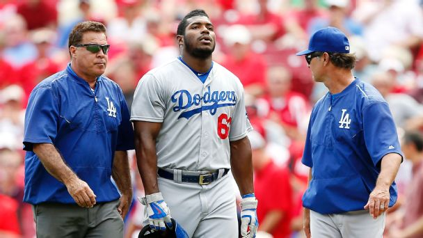 Yasiel Puig, Stan Conte, Don Mattingly