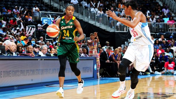 Seattle's Jewell Loyd is the leading scorer among WNBA rookies at 10.2 points per game.