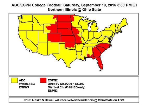 tv football schedule today college football history
