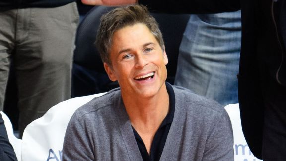 Actor Rob Lowe at Grizzlies-Clippers