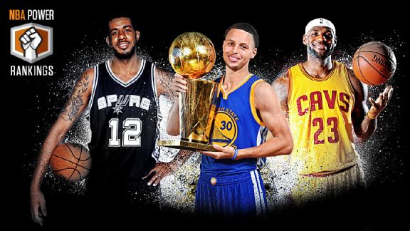 LaMarcus Aldridge, Stephen Curry & LeBron James