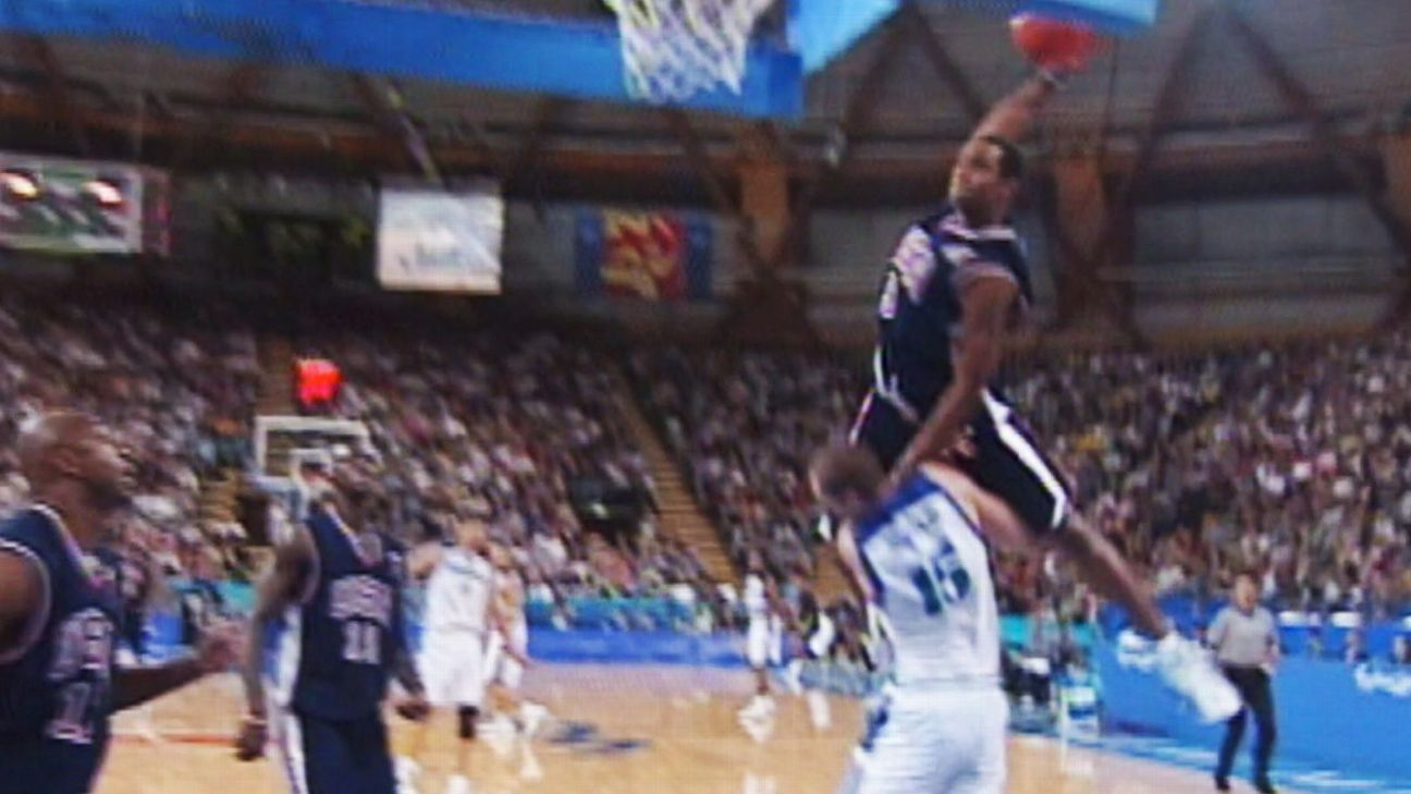 Vince Carter remembers dunk on Frederic Weis from 2000 Sydney ...