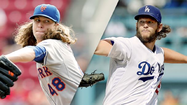 deGrom (13 Ks) leads Mets to Game 1 win in L.A.