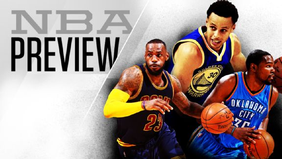 NBA Season Preview: ESPN's Power Rankings for 2015-16