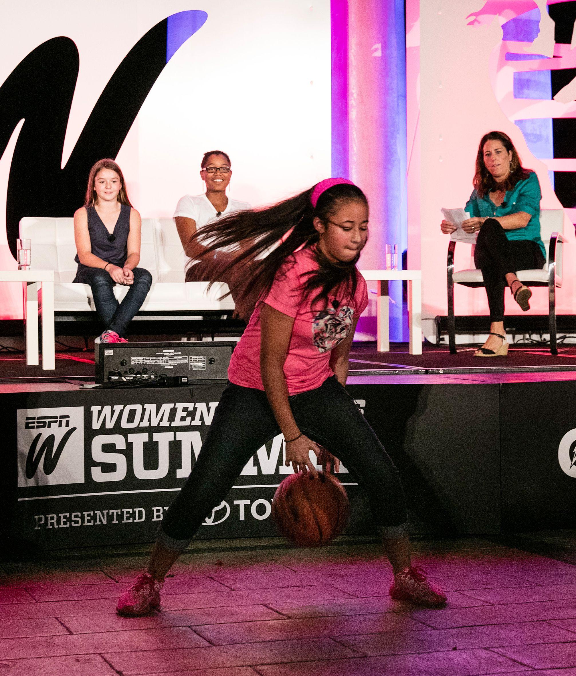 2015 espnW: Women  Sports Summit: Dribble skills