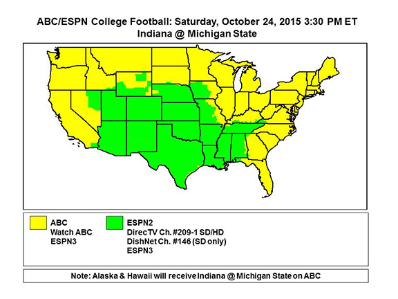 espn.go.com saturday football tv schedule