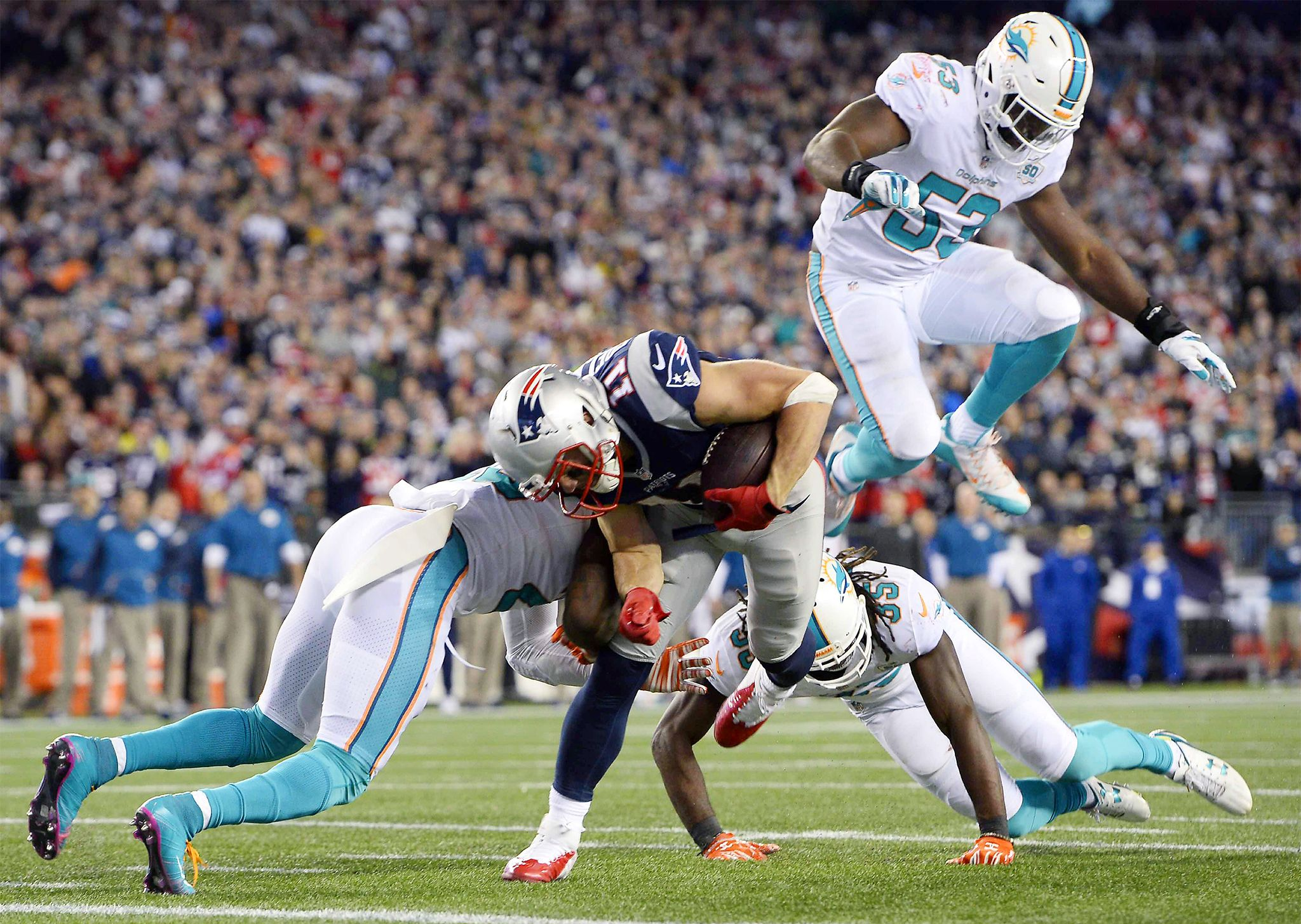 Patriots wide receiver Danny Amendola intends to sign with the Dolphins a source told ESPN He joins Albert Wilson who also committed to joining Miami on