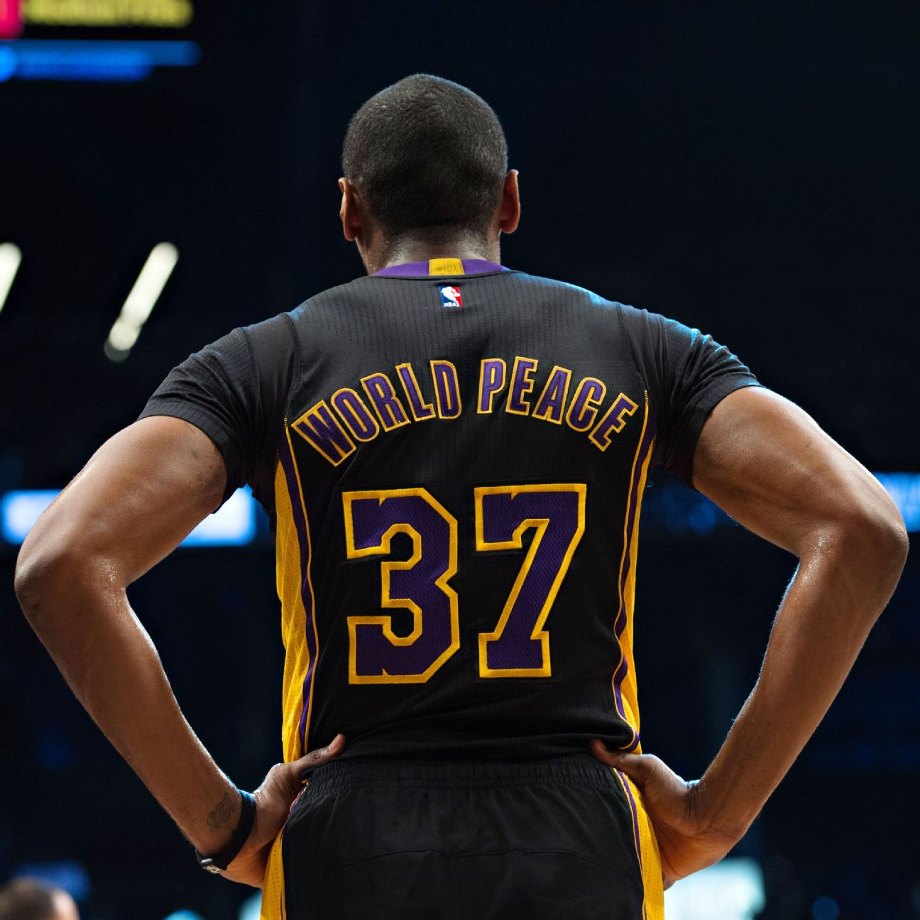 Lakers World16: NBA: Los Angeles Lakers' Metta World Peace Realizes His