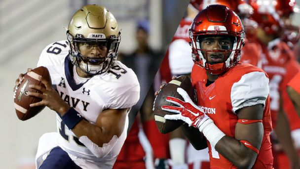 Follow live: Houston adds FG before half to widen lead on Navy