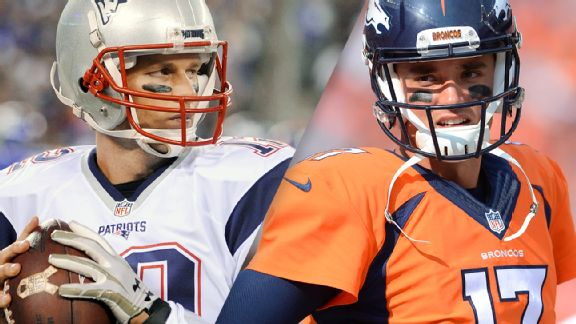 It's not Peyton Manning vs. Tom Brady, but Patriots-Broncos still intriguing