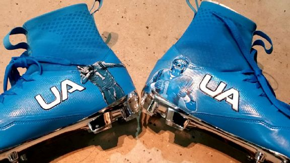 Panthers QB Cam Newton wearing custom-made dabbin' cleats