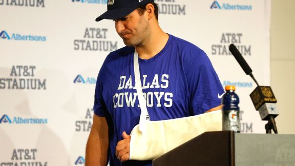 Tony Romo hurting physically but also mentally
