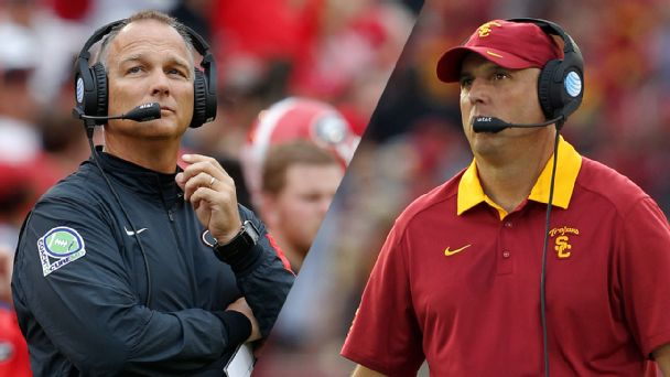 Mark Richt and Clay Helton