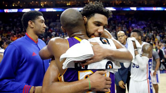 Kobe Bryant and Jahlil Okafor