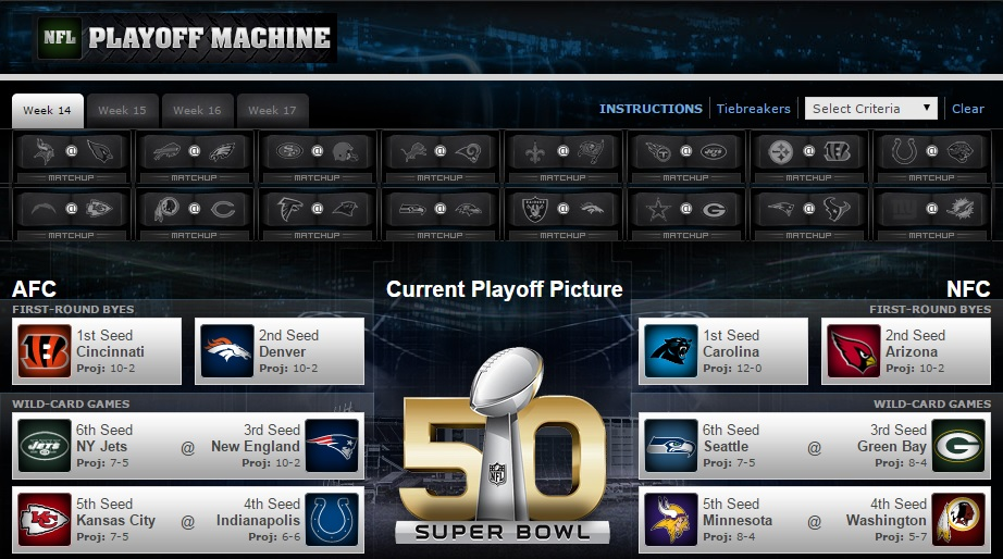 playoff machine nfl 2015