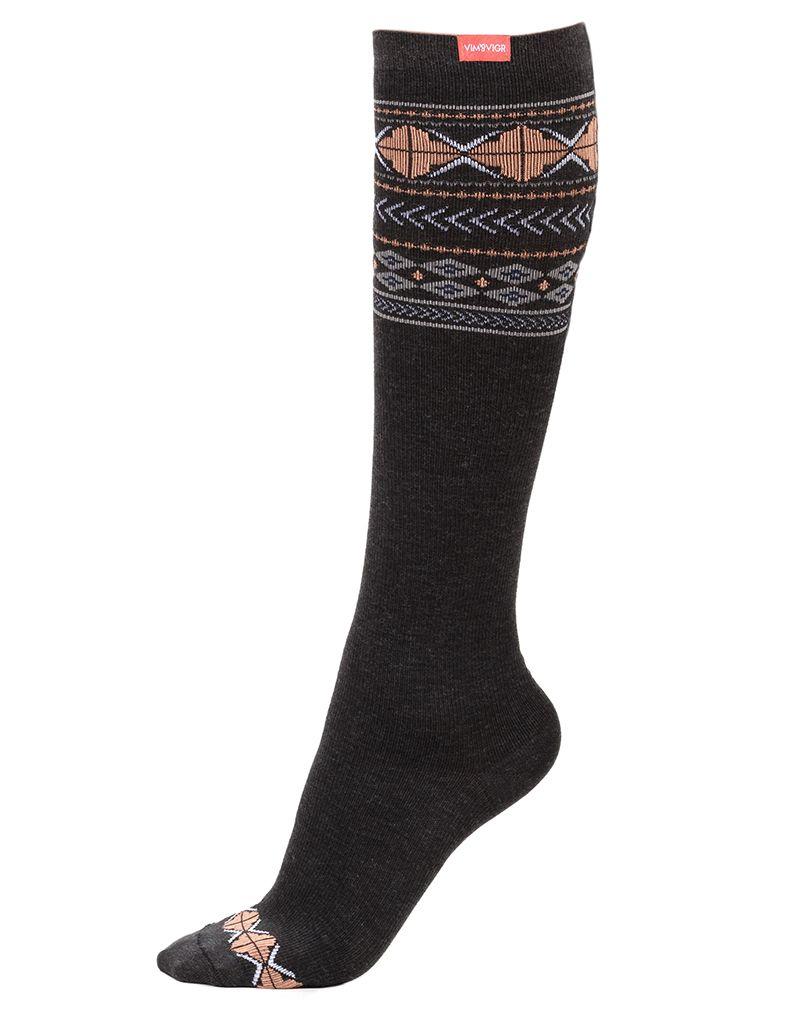Wool compression socks