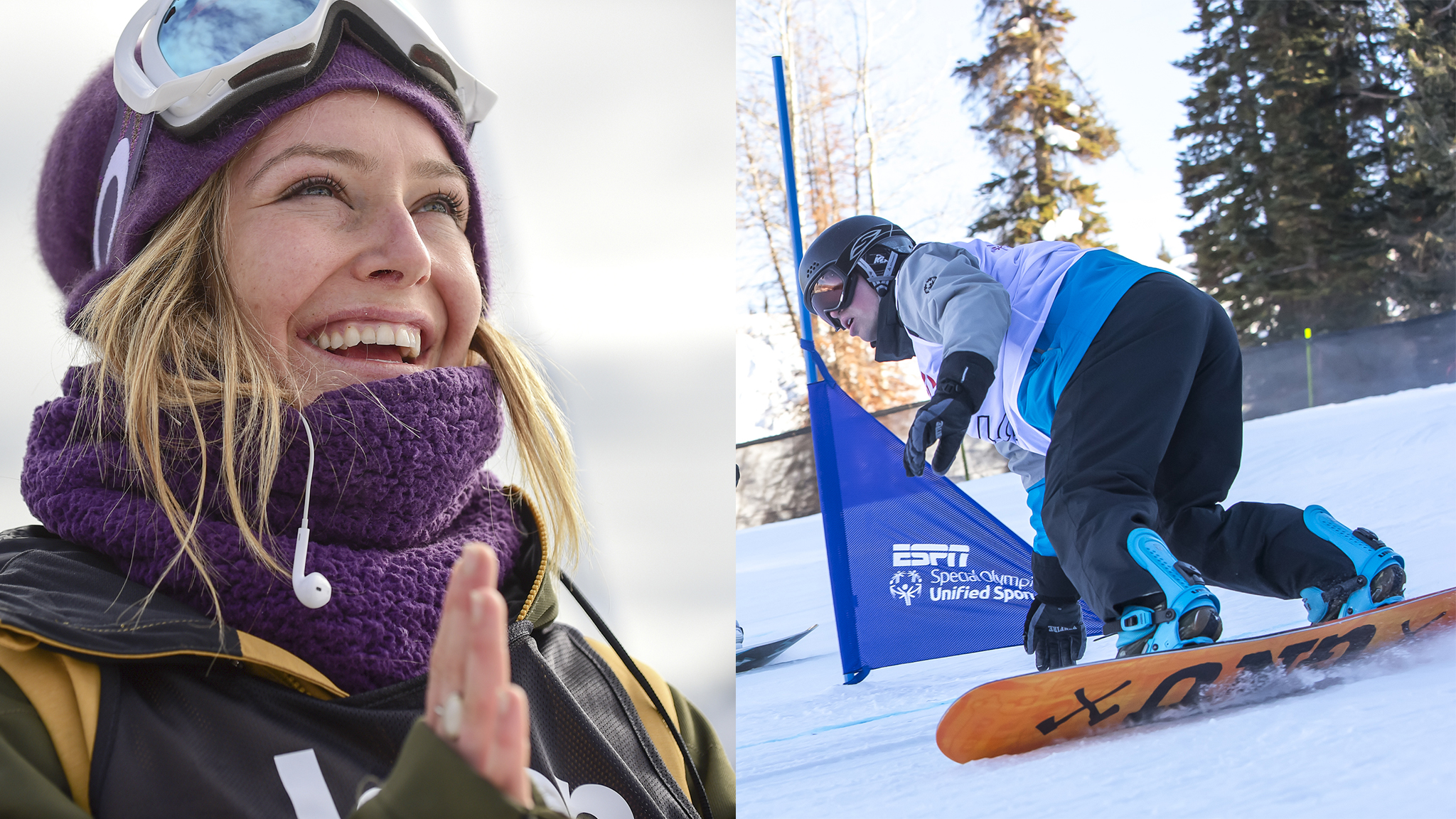 Jamie Anderson and Cody Field