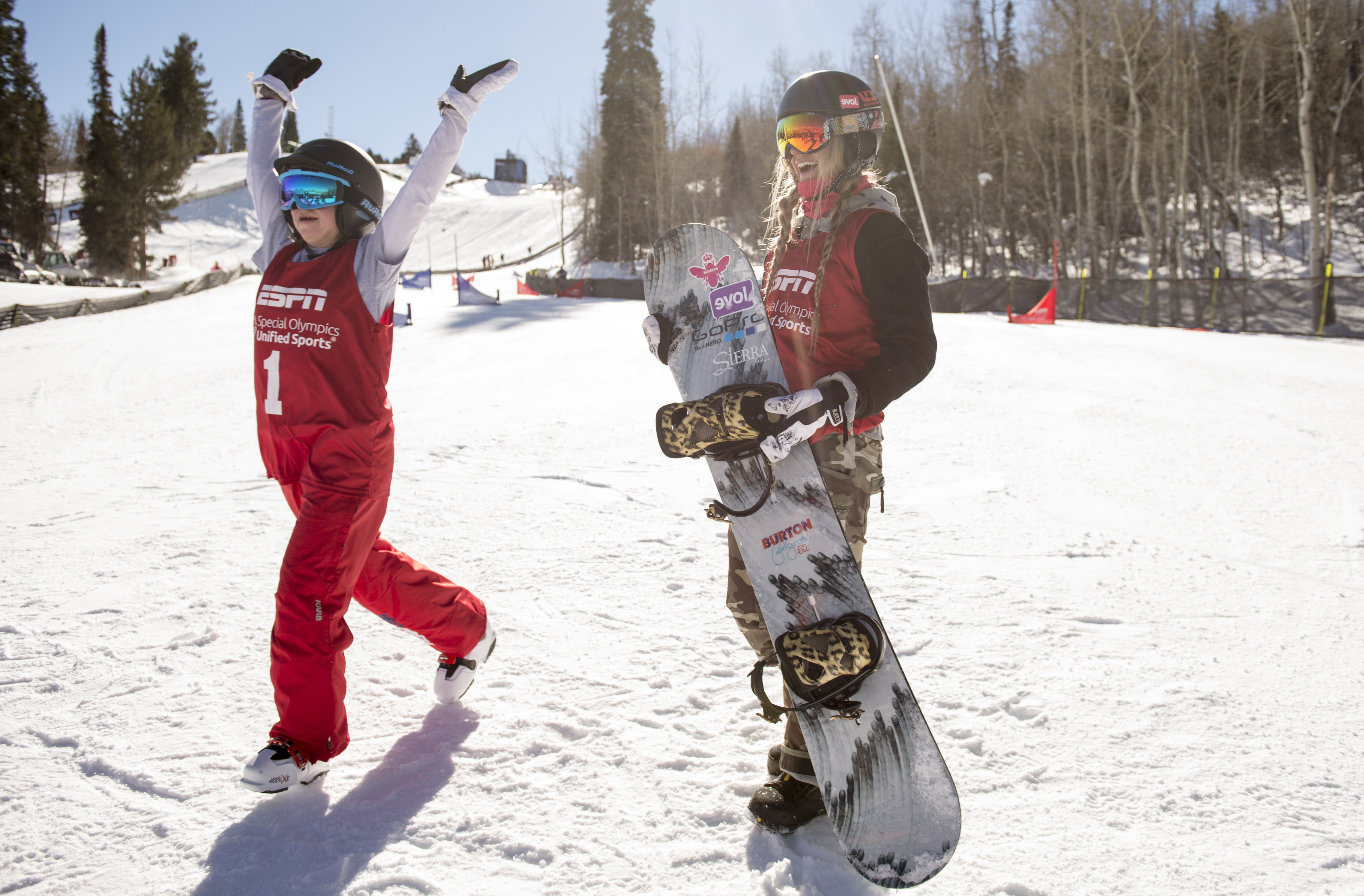 Special Olympics Unified Snowboarding Dual Slalom