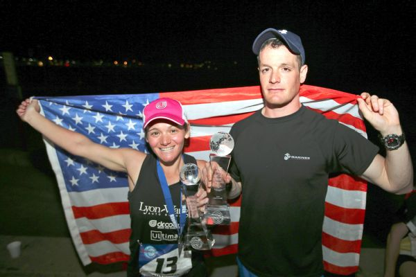 Becca Pizzi and Daniel Cartica became the first Americans to win the World Marathon Challenge -- completing seven marathons in seven days on seven continents -- and each did so in world-record time.