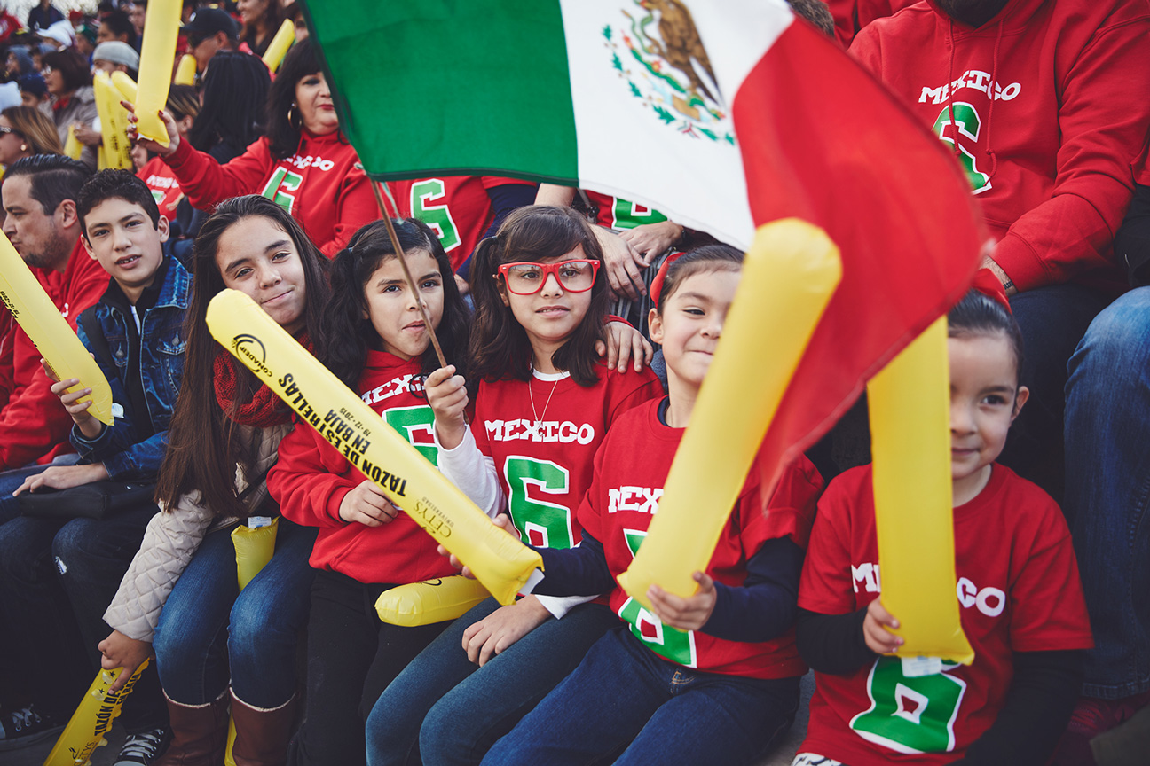 Fans of all ages arrived at the stadium early for Tazón de Estrellas. One  way American football has gained traction in Mexico is through youth  programs d40d3b1dc