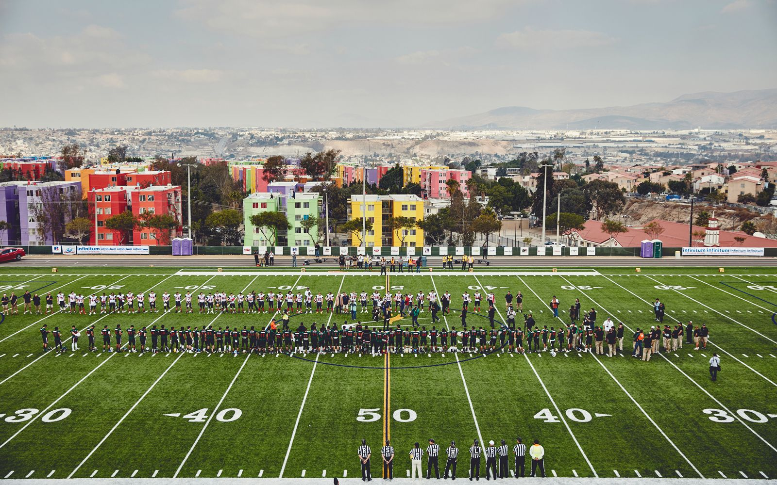 All-star college football teams from the United States and Mexico face off  in a rivalry game 38113bf58