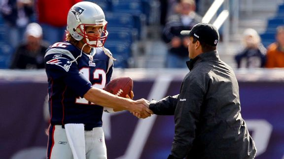 Tom Brady and John Harbaugh