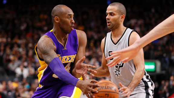 Tony Parker and Kobe Bryant