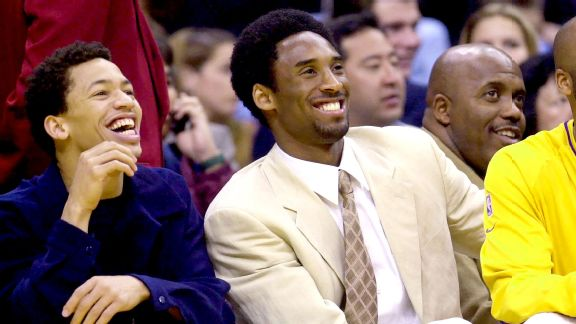 Tyronn Lue and Kobe Bryant