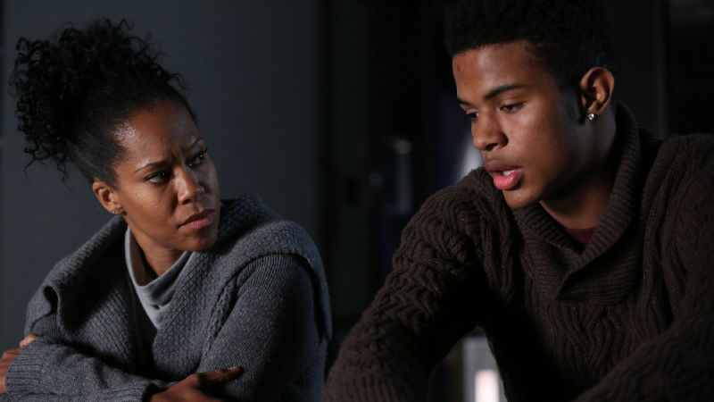 Terri LaCroix (Regina King) enables her son Kevin (Trevor Jackson) to continue to hide behind his entitled upbringing.