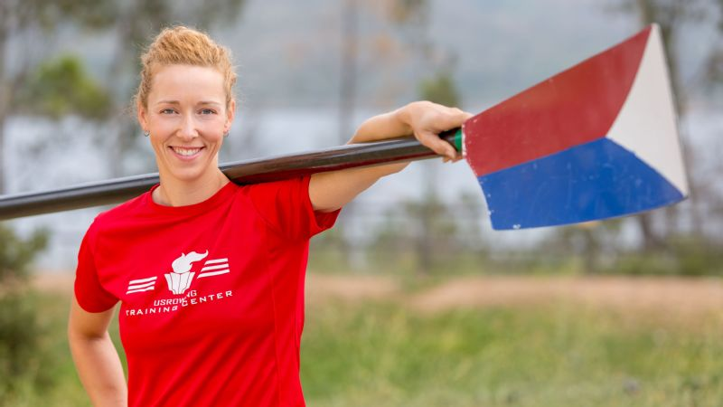 Kalmoe started rowing at the University of Washington in 2002 and made her Olympic debut for US Rowing at the 2008 Beijing Games, where she finished fifth in the double sculls.