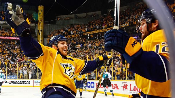Predators sink Sharks in triple OT thriller
