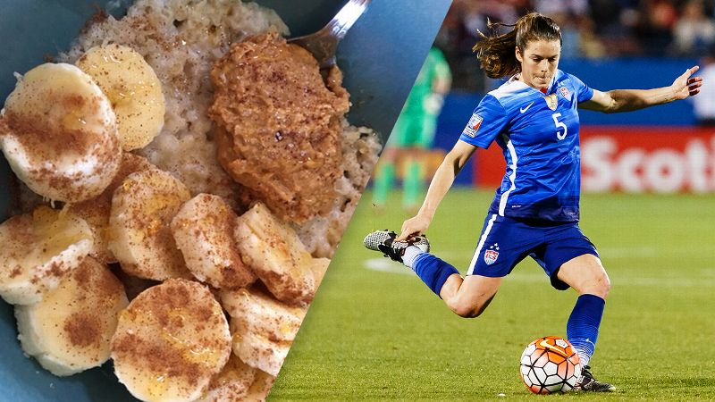 Kelley O'Hara and her food