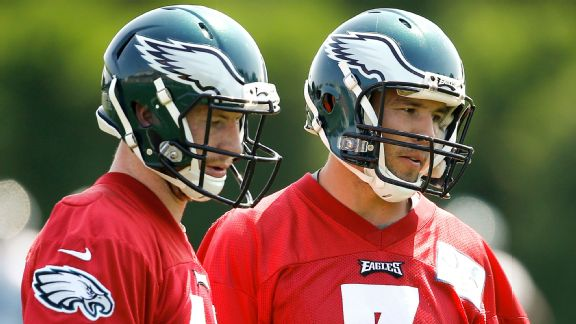 Philadelphia's Carson Wentz and Sam Bradford