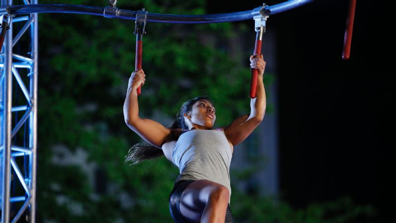 Meagan Martin competes in the Indianapolis qualifier for 'American Ninja Warrior.'