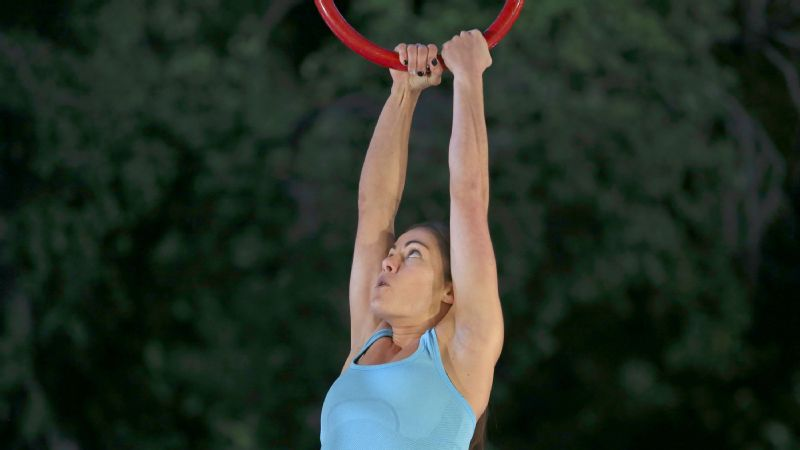 Kacy Catanzaro competes in the Oklahoma City Qualifier on 'American Ninja Warrior.'