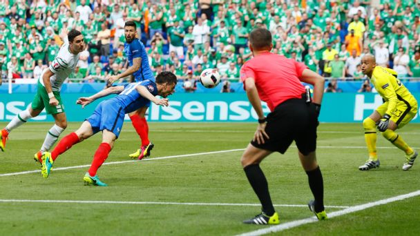 France overcome early scare against brave Ireland to reach quarterfinals