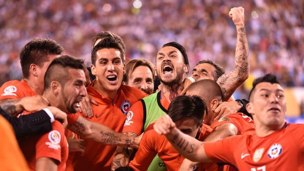 Chile repeats as Copa champs in penalty kicks
